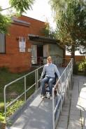 Nájezdová rampa pro vozičkáře