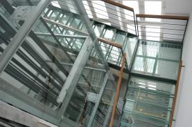 Prosklené schodiště Banka Ostrava