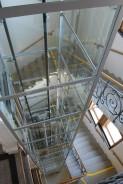 Ocelová konstrikce v historickém domě