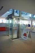 Prosklený výtah Česká spořitelna