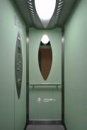 Výtahová kabina v designu Shark