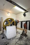 Výtahová strojovna před rekonstrukcí