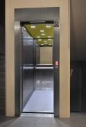 Trakční výtah se strojovnou pohled do kabiny výtahů