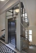 Trakční výtah se strojovnou, modernizace