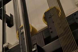 Výtah bez strojovny, pohled na výtahové kladky