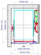Typové řešení výtahu A