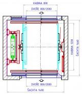 Typové řešení výtahu C