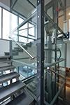 Nový panoramatický výtah v budově stanice technické kontroly Ostrava-Třebovice